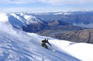 Powder skiing in New Zealand
